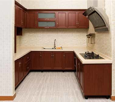 [Hot Item] Aluminum Kitchen Cabinets in Solid Wood Color Br-Alk007