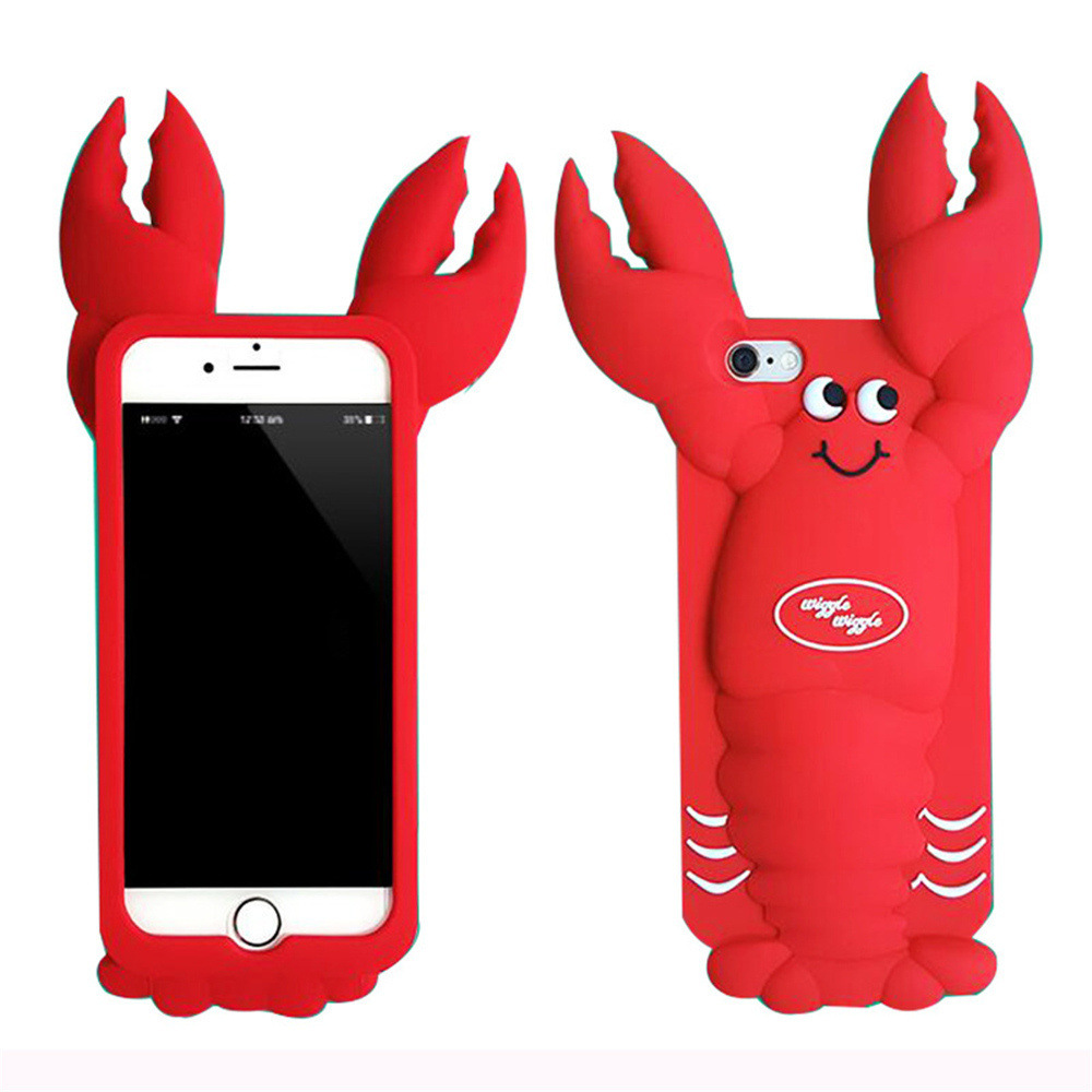 3D Cartoon Beer Crab Icecream Cheap Silicone Phone Cover pictures & photos