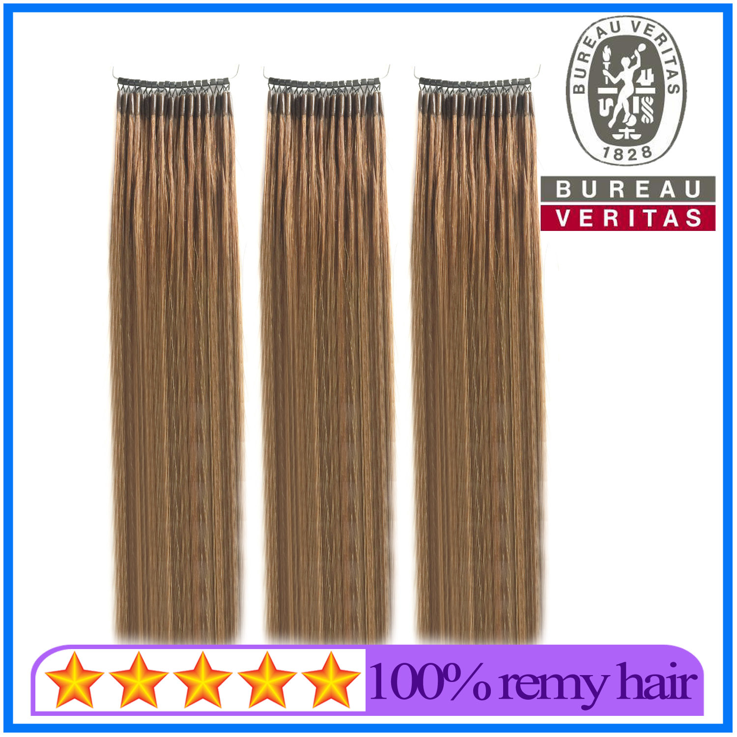 China Double Strands 20 Inch Dyed Micro Ring Hair Extensions With