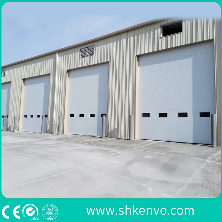 Automatic PU Sandwich Panel Motorized Industrial Overhead Sectional Garage  Door