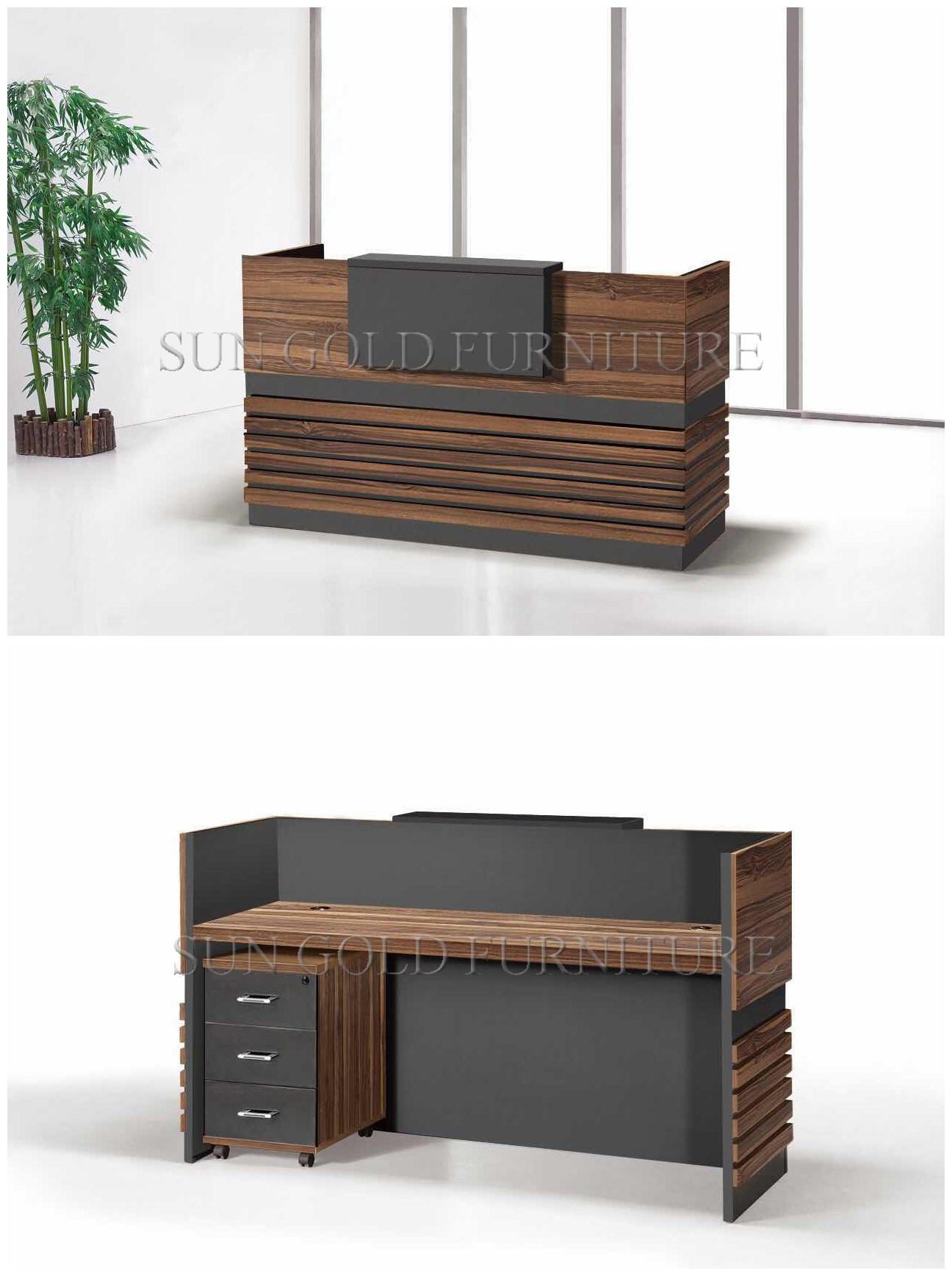 Bon China Popular Simple Wooden Front Office Counter Salon Reception Desk  (SZ RT056)   China Reception Table, Wood Reception Desk