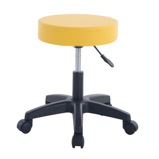 Admirable Hot Item Modern Swivel Rolling Stool No Back Home Chair Yellow Ibusinesslaw Wood Chair Design Ideas Ibusinesslaworg