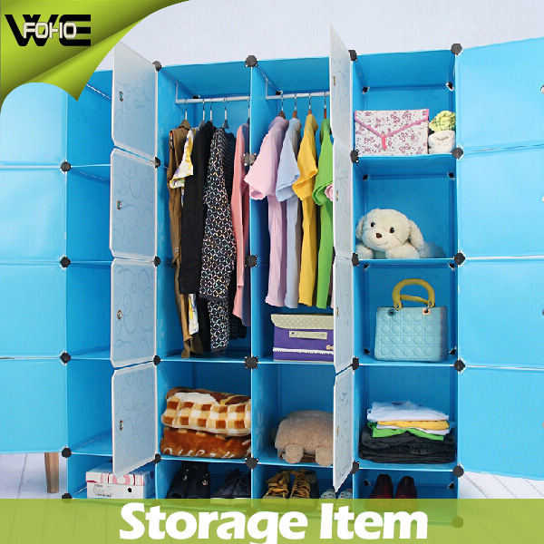 [Hot Item] Plastic Modern Bedroom Wardrobe Storage Systems Designs