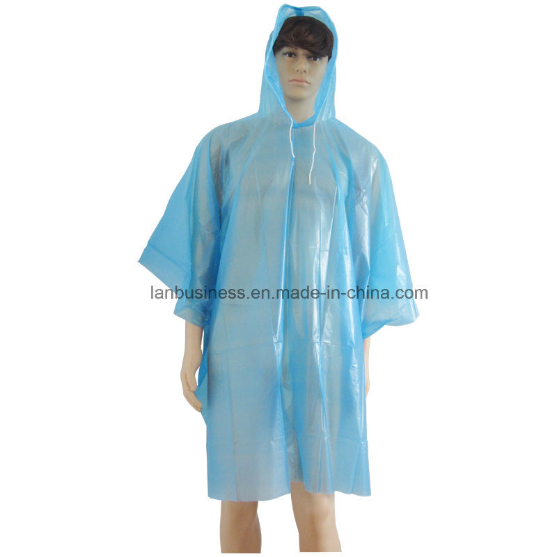 outlet sale new 100% genuine [Hot Item] Attached Hood/ Disposable / PEVA / Blue Rain Clothing