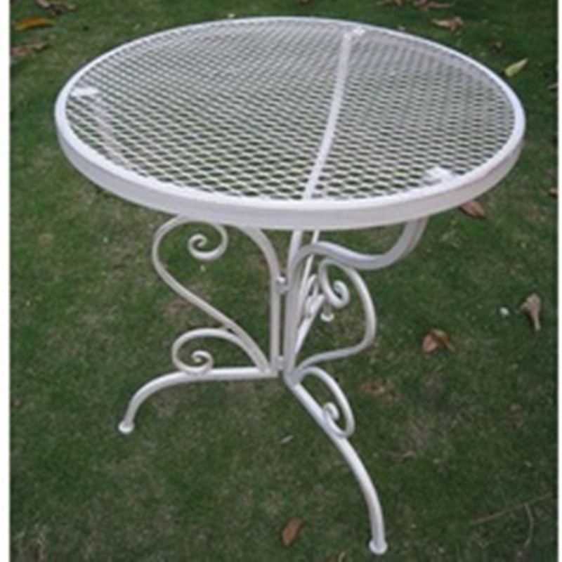 2016 New Design Wrought Iron Table for Outdoor Furniture