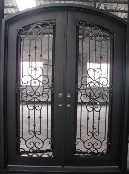 Iron Double Entry Doors Door Ideas Themiraclez