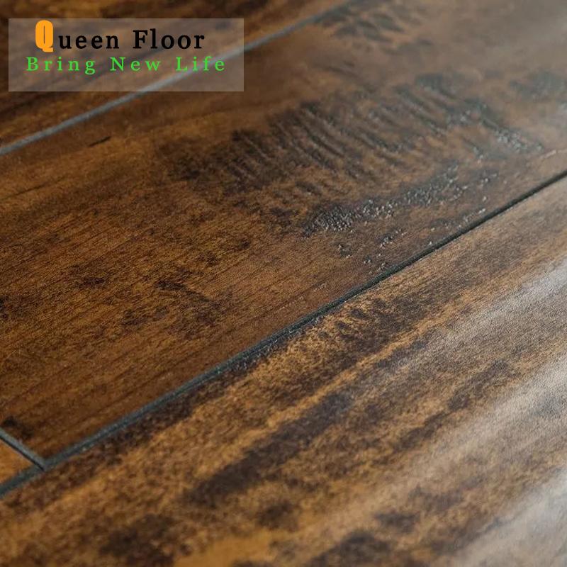 China Distressed Handsed Ac3 Hdf, Distressed Laminate Flooring