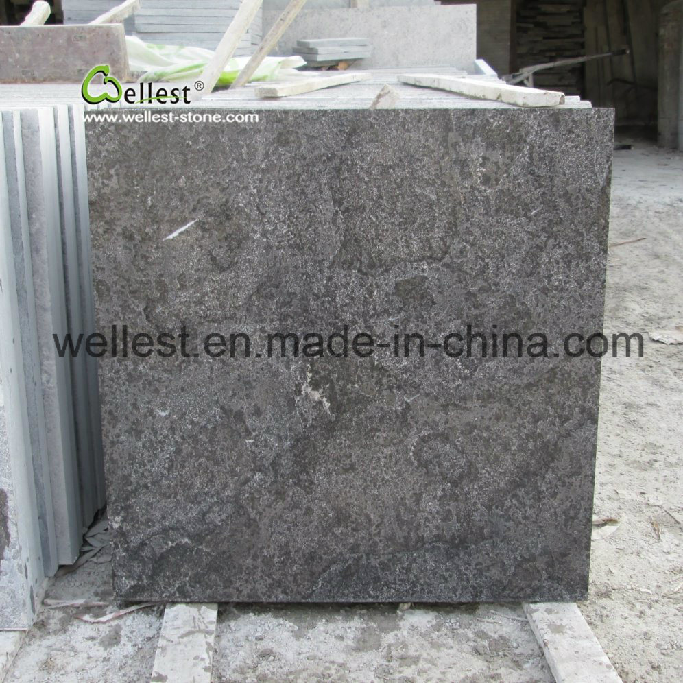 China Shandong L828 Blue Stone Limestone Tile For Wall And Floor Cladding