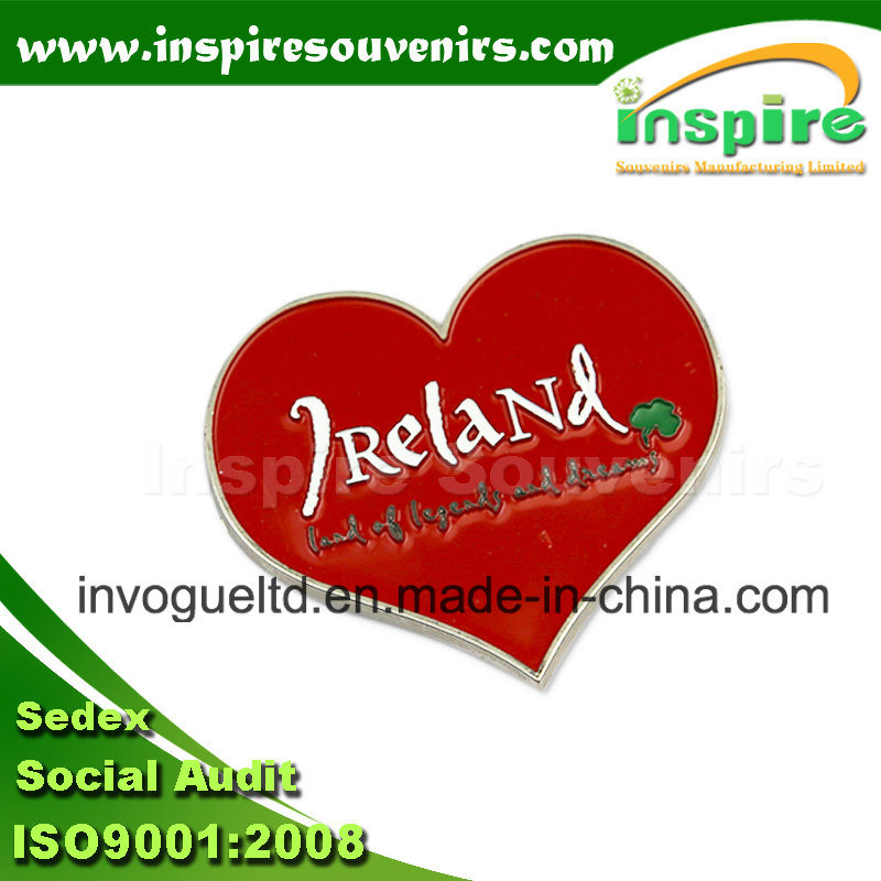 Attractive Ireland Heart Shape Pin for Collections
