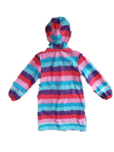 Colourful Broad Stripe PU Adult Raincoat pictures & photos
