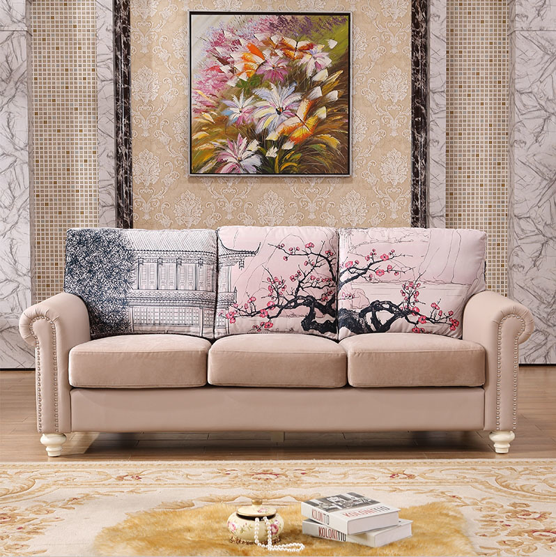 China Modern Style Simple Wooden Sofa Set Design - China ...