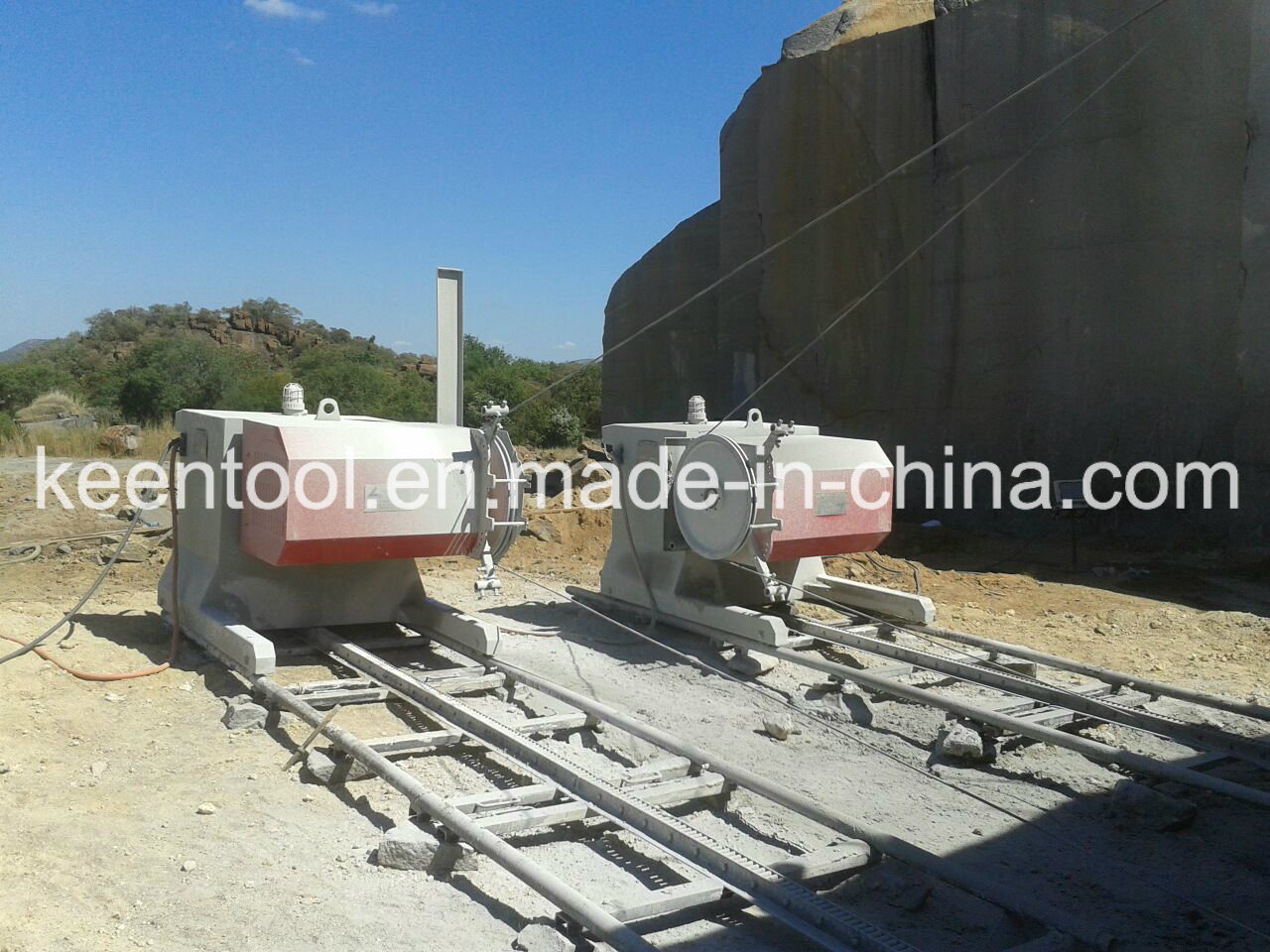 China 75kws/100HP Electrical Drive Wire Saw Machine for Mining or ...