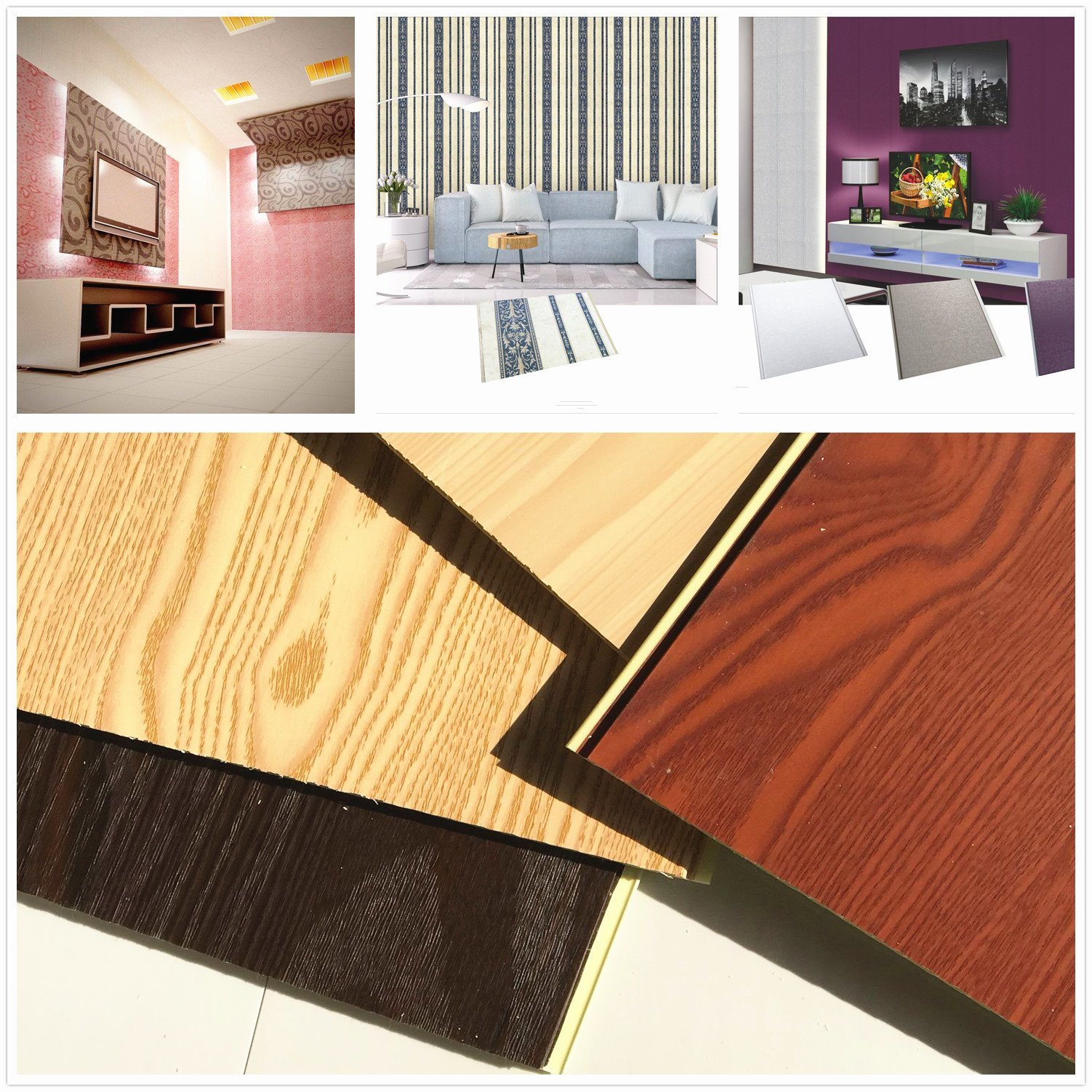 China 2018 New Style PVC Ceiling Tiles Wall Decoration Board DC-95 ...