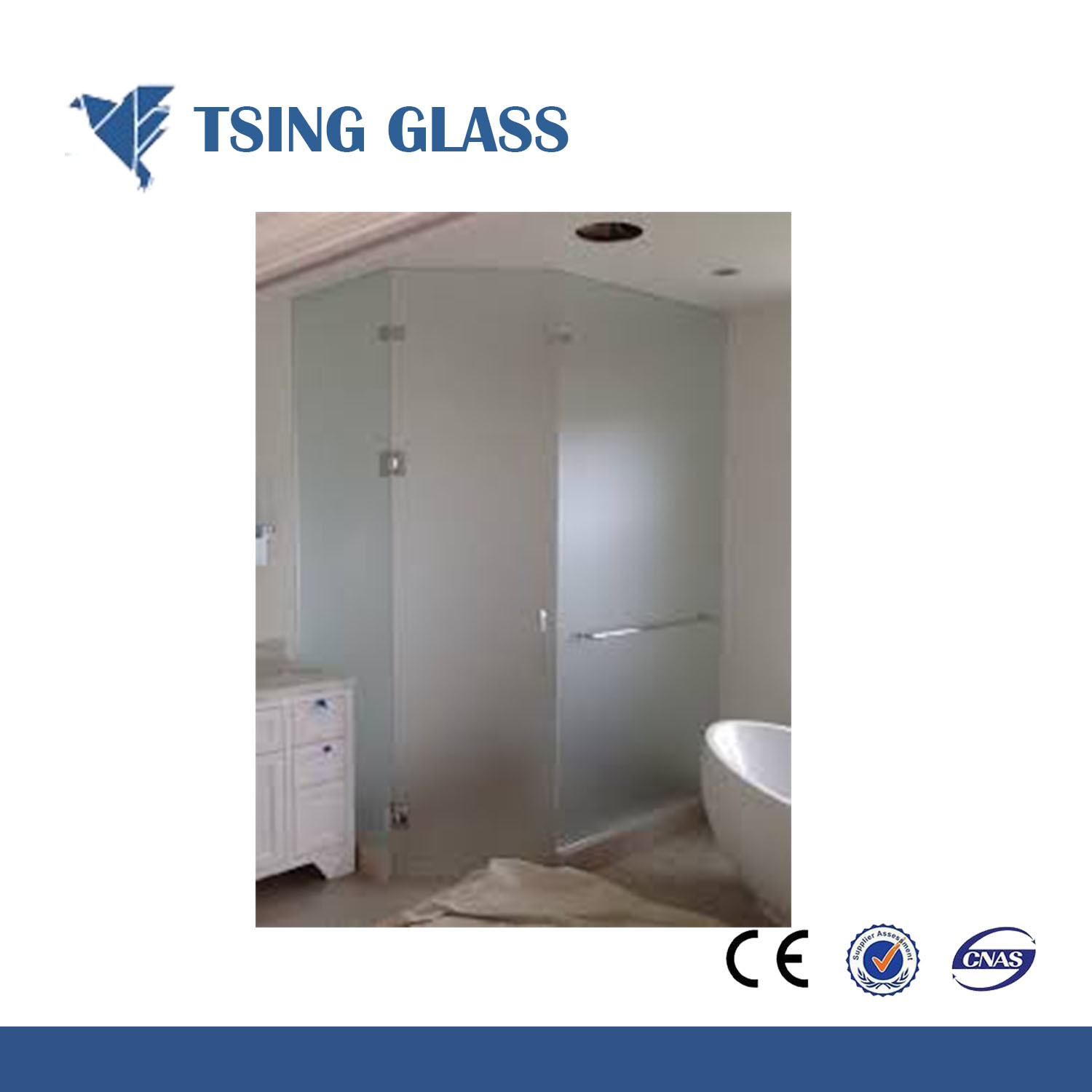 Translucent Glass / Frosted Glass / Frosting Glass for Bathroom Door  sc 1 st  Qingdao Tsing Glass Co. Ltd. & China Translucent Glass / Frosted Glass / Frosting Glass for ...