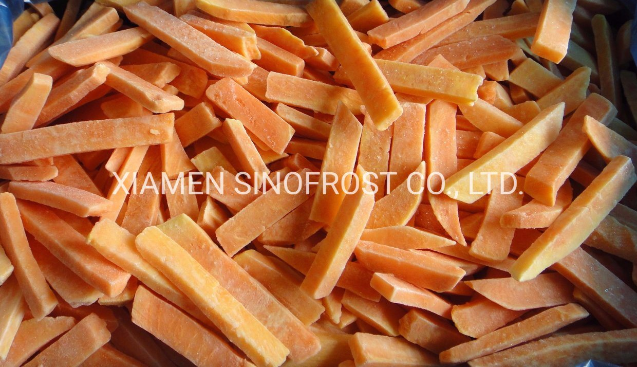 IQF Sweet Potato Sticks, Frozen Sweet Potato Sticks, IQF Sweet Potato Slices, Frozen Sweet Potato Slices, Peeled, Blanched pictures & photos