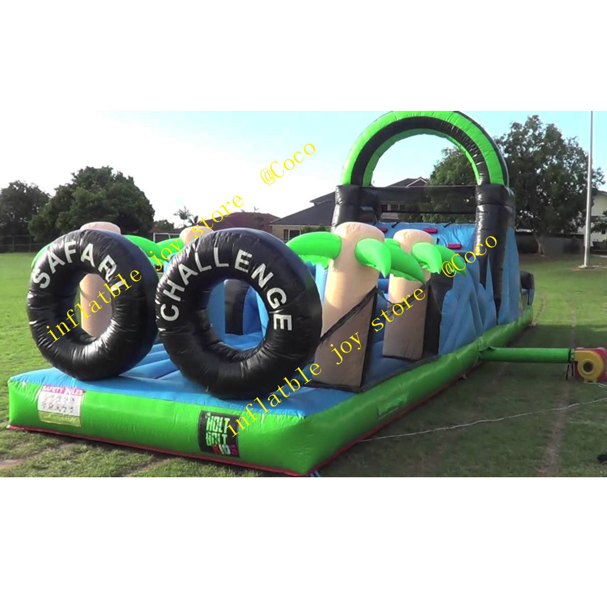 China Commercial Inflatable Obstacle Course Challenge Game