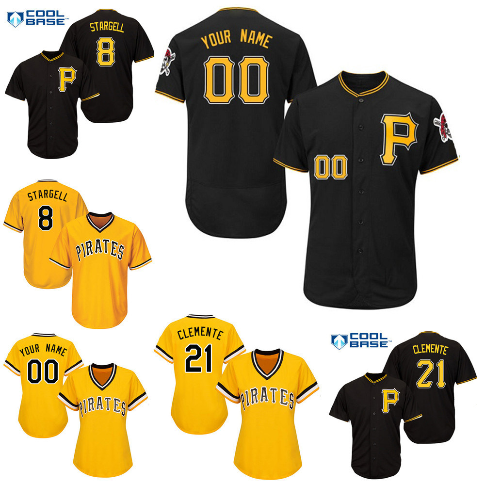 huge selection of b3754 91829 [Hot Item] Pittsburgh Pirates Willie Stargell Roberto Clemente Baseball  Jersey