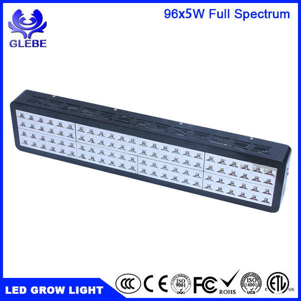 Glebe 200W Double Chips LED Grow Light Full Specturm Grow Lamp for Greenhouse Hydroponic Indoor Plants Veg and Flower