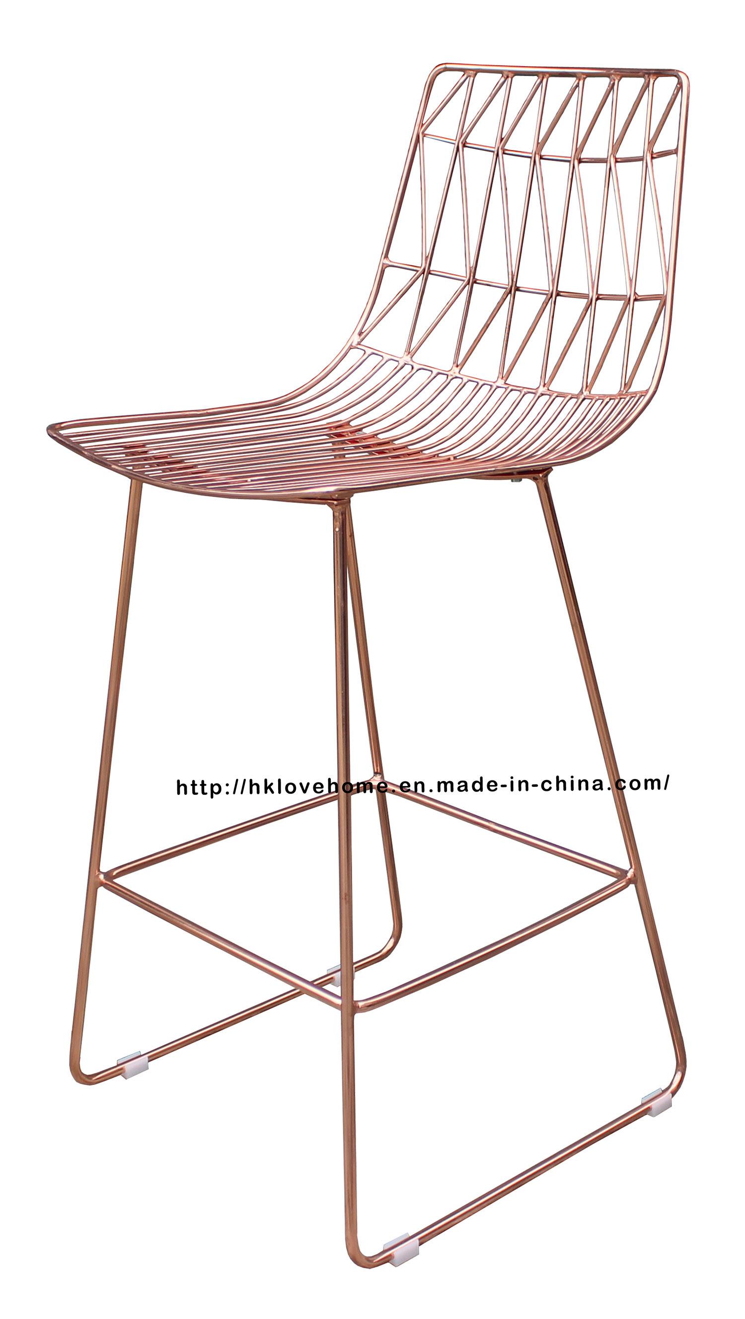 China Modern Replica Restaurant Furniture Dining Side Wire Copper