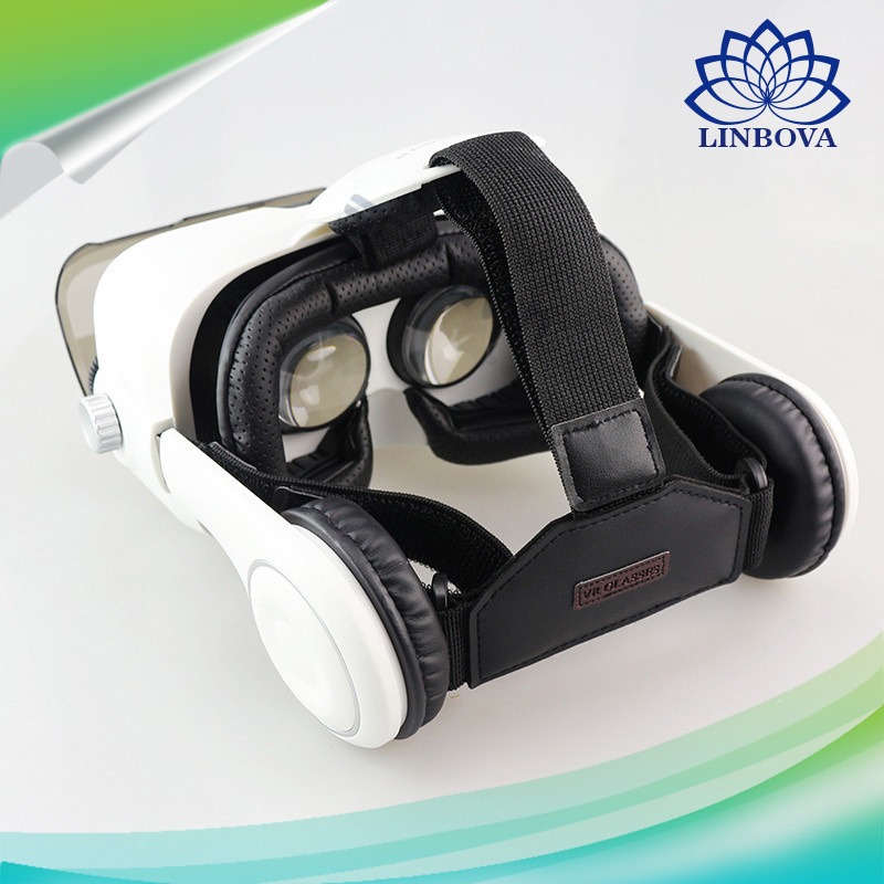 Headset Stereo Box 3D Cardboard Virtual Reality Vr Glasses for 4-6′ Mobile Phone pictures & photos