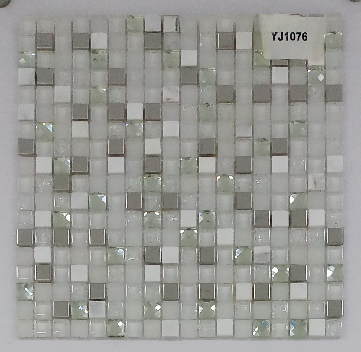 China Good Quality Wall Decoration Diamond Pattern Glass And Stone Mosaic Photos Pictures Made In China Com