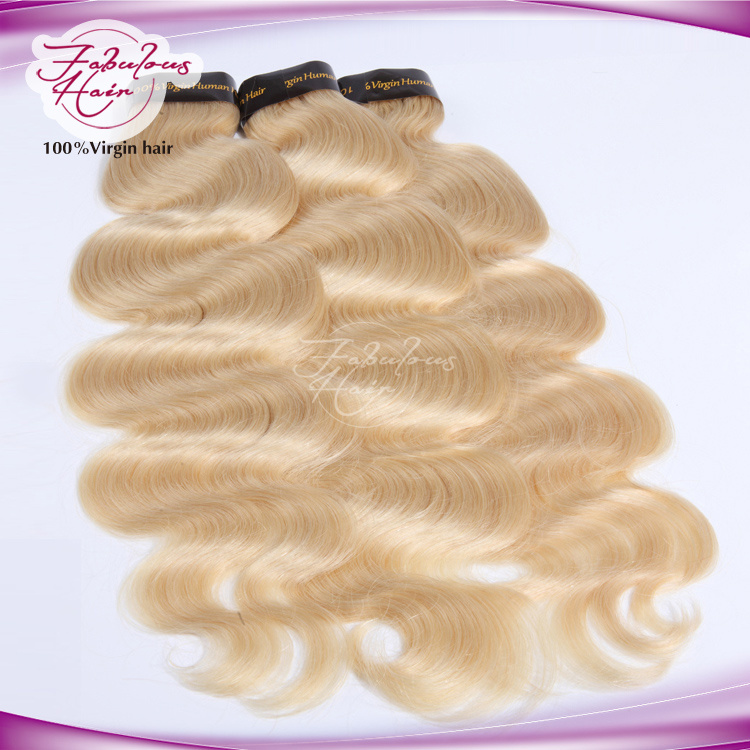 Soft and Smooth Color 613# Brazilian Hair Body Wave Platinum Blonde Hair pictures & photos