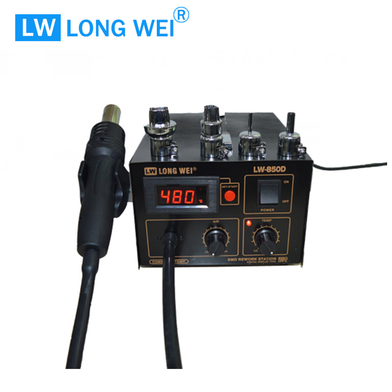 Lw850d ESD Safe Premium Digital Hot Air Gun with Soldering Station