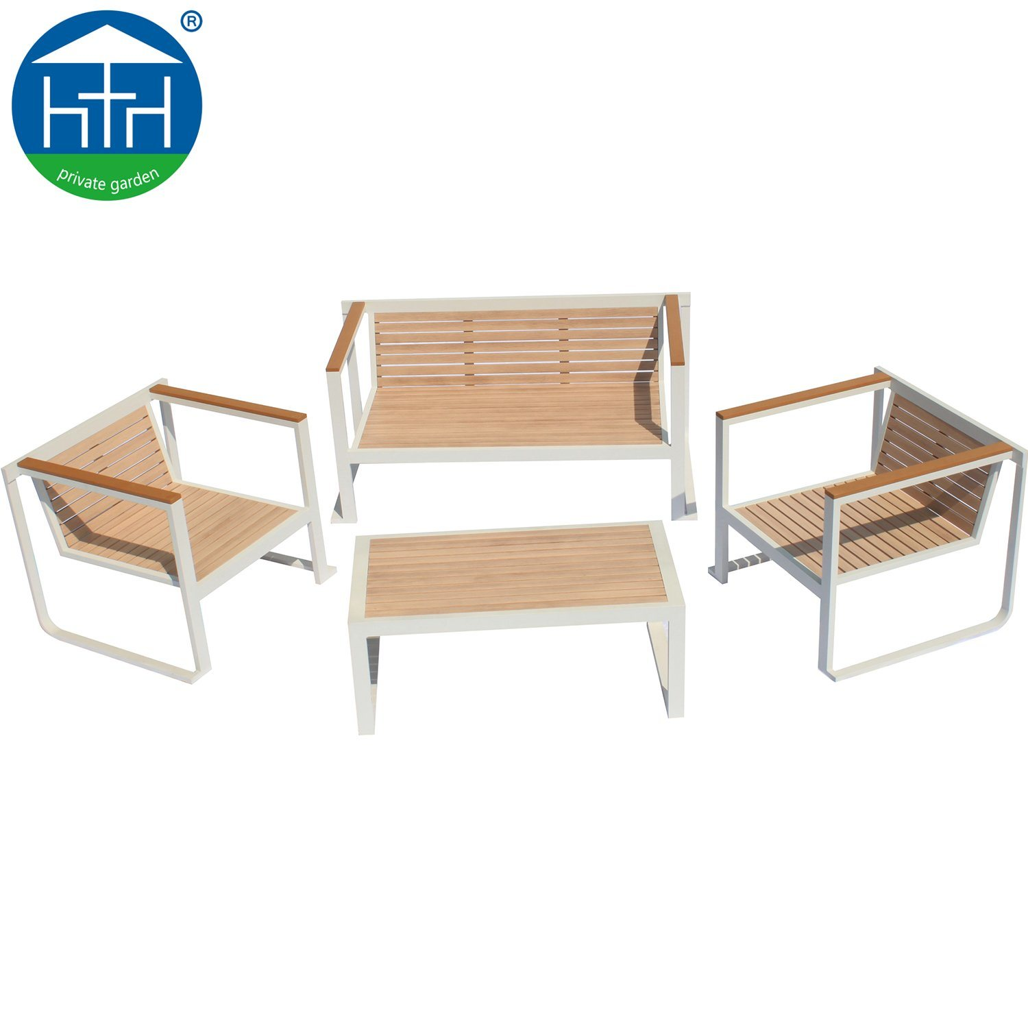 Hot Item Antique Wooden Painting Outdoor Furniture Design Aluminum Sofa Set
