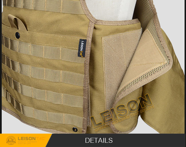 Ballistic Vest Kevlar or Tac-Tex and Bullet Proof Vest Has Passed USA HP Lab Test