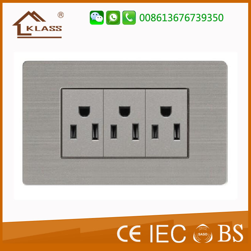 China American Style Electrical 110V~250V Lighting Receptacle ...