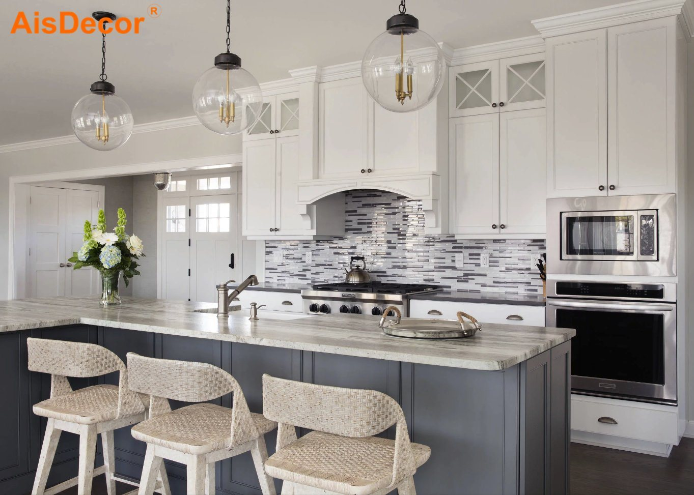 China America Popular Antique Solid Wood French Style Kitchen Cabinets With 3d Render Available Cabinet
