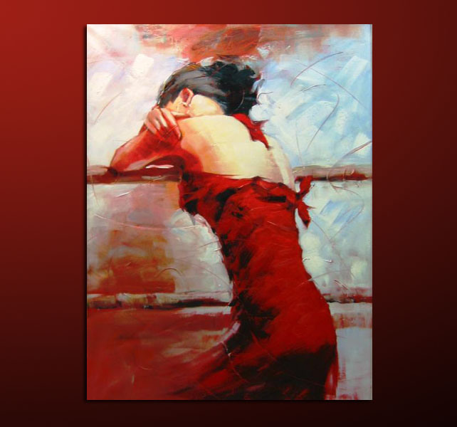 china original fashion female impressionism oil painting