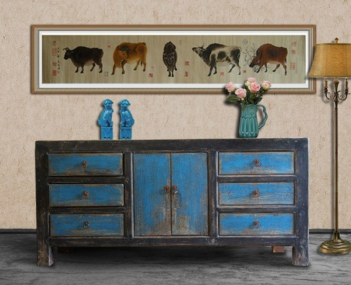 Chinese Antique Furniture Side Cabinet (ART-13) - Chinese