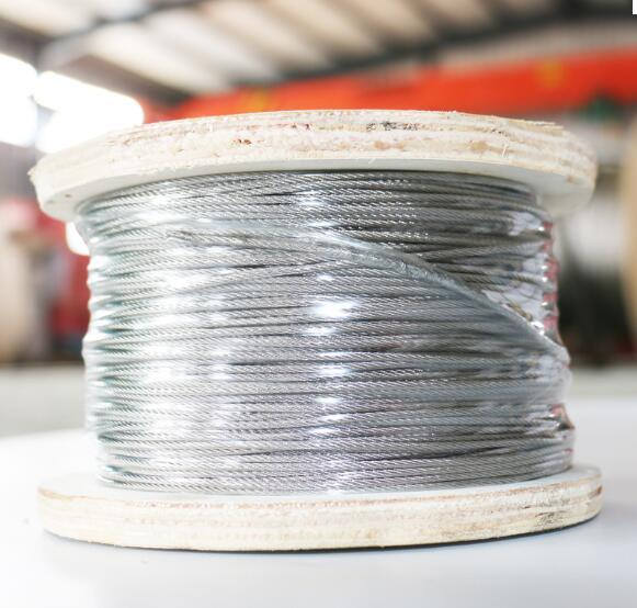 [Hot Item] Clear PVC Coated 6*19 Stainless Steel Wire Rope