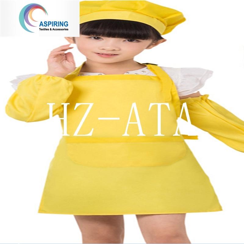 China Custom Printed Kids Chef Hat And Apron Child Apron China