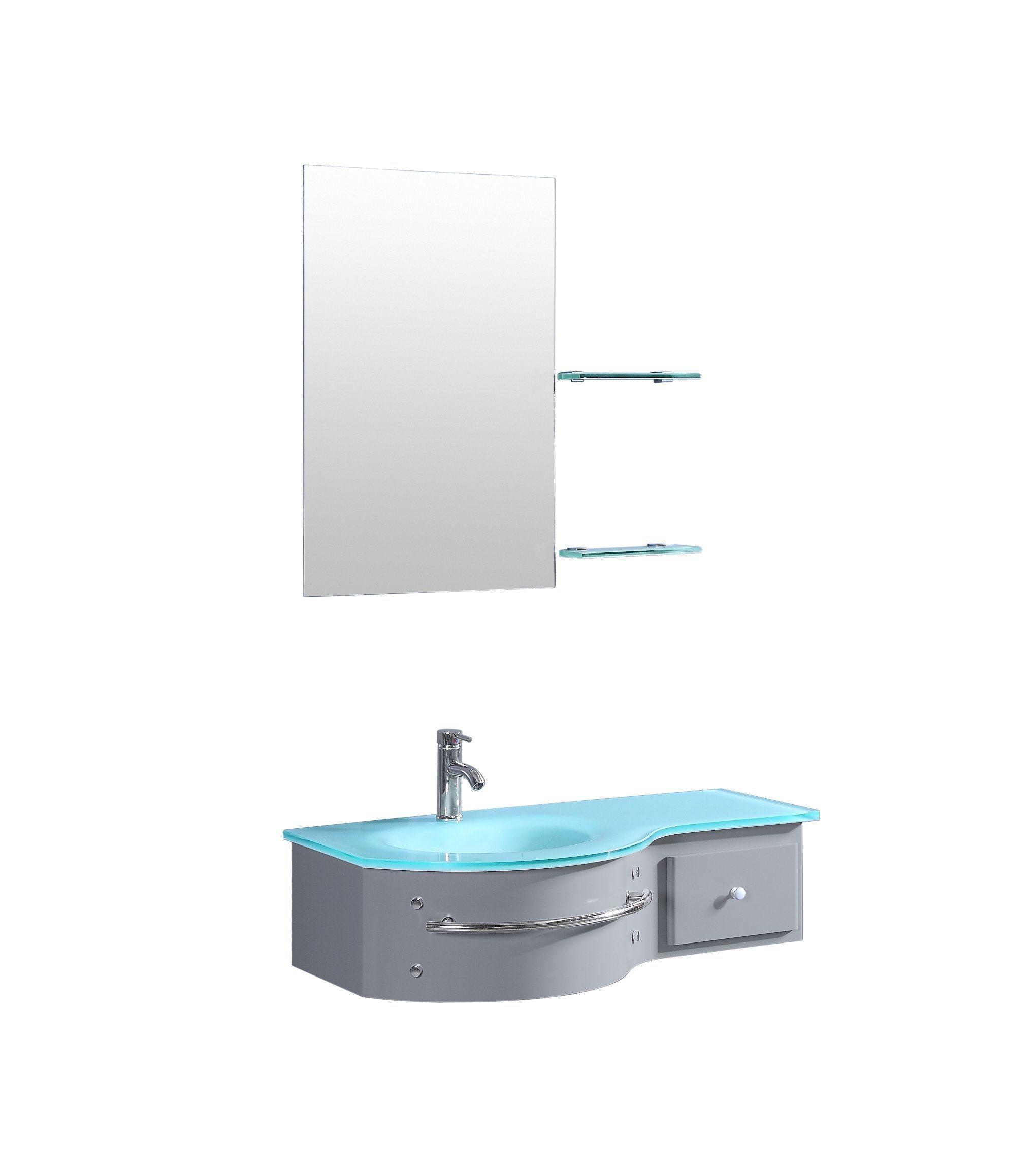 China Pvc Bathroom Corner Vanity With Glass Sink Top China Bathroom Vanity Bathroom Corner Vanity