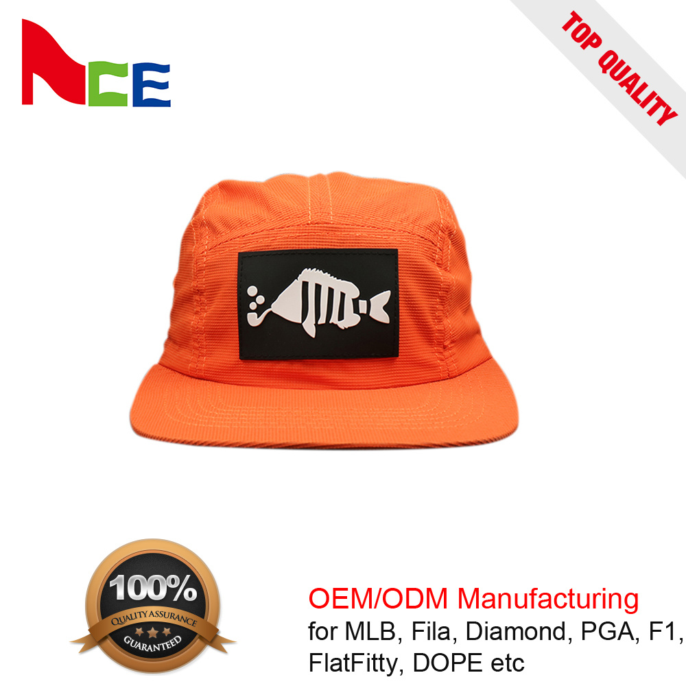24845a6a China Factory Custom Patch Logo Unstructured Nylon 5 Panel Snapback Hat -  China Custom Hat, Unstructured 5 Panel