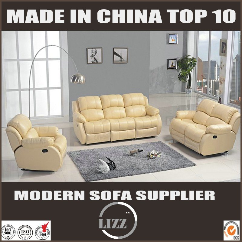 China Modern Sectional Genuine Leather Recliner Sofa China Soft