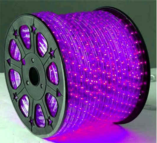 China high brightness waterproof outdoor purple round 2 wires led high brightness waterproof outdoor purple round 2 wires led rope light aloadofball Image collections