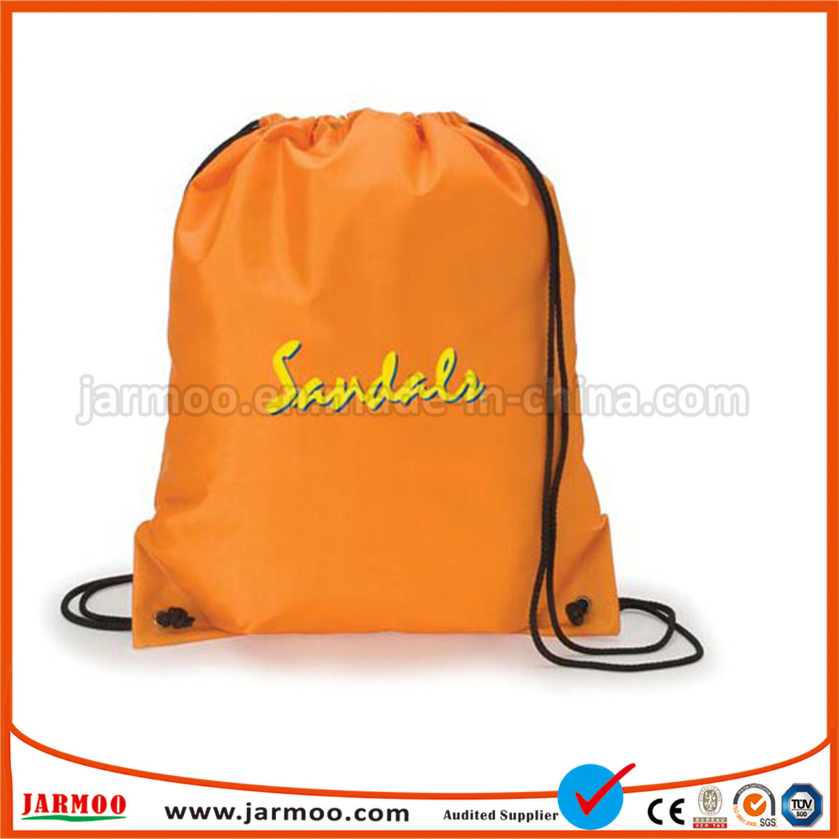 Heavy Duty 210d Polyester Custom Drawstring Bag pictures & photos