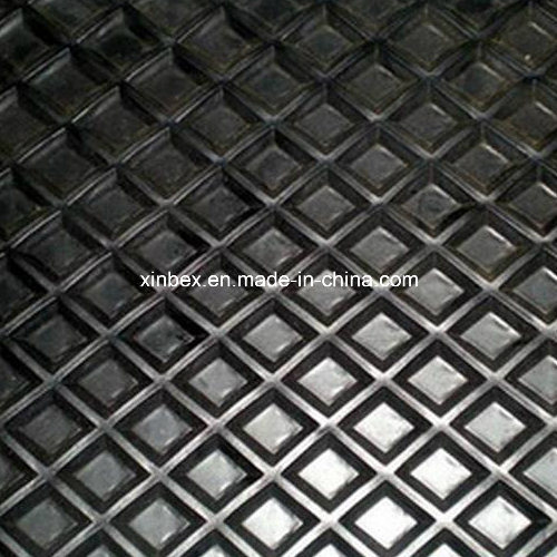 PVC Big Quadrel Pattern Black Conveyor Belt for Wood Process pictures & photos