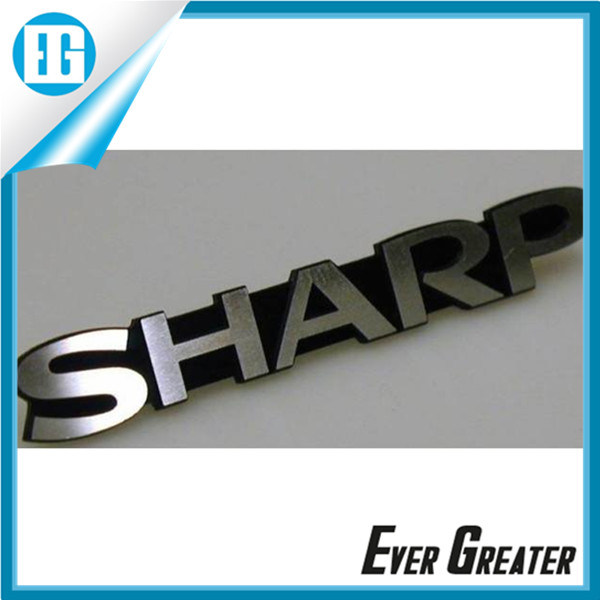 Embossed Logo Sticker Emblems for Cara