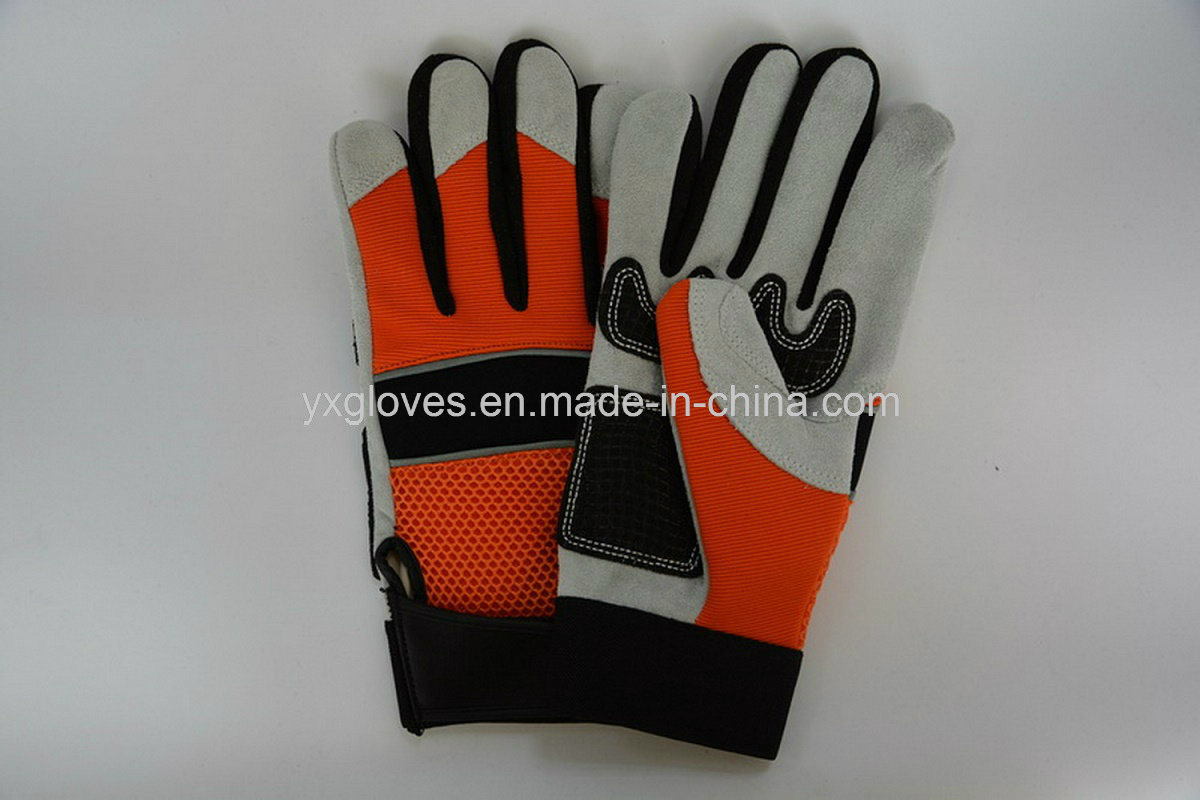 Mechanic Glove- Silicon Glove- Safety Glove-Labor Glove-Work Glove-Leather Glove pictures & photos