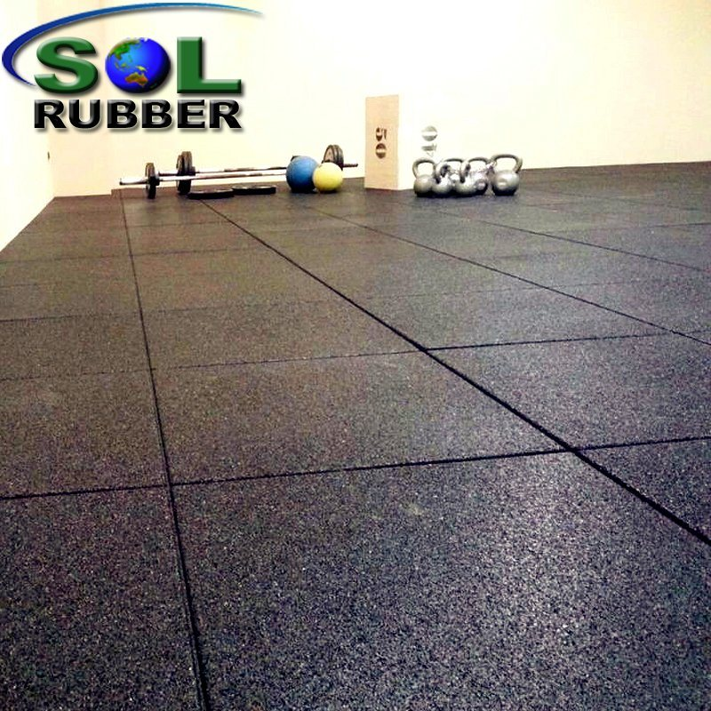 Recycled Gym Rubber Flooring Mats Tiles