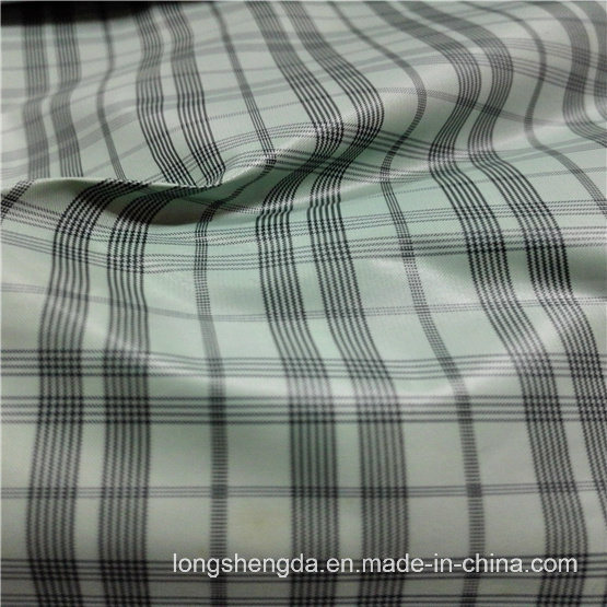 40d Woven Dobby Twill Plaid Plain Check Oxford Outdoor Jacquard 100% Polyester Fabric (X017)