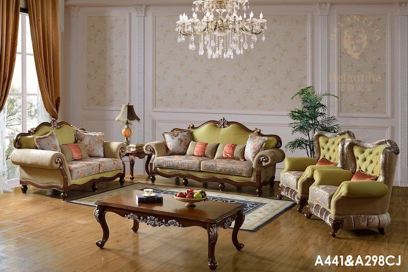 China Luxury French Baroque Living Room Sofa Set/Royal Palace Hand ...
