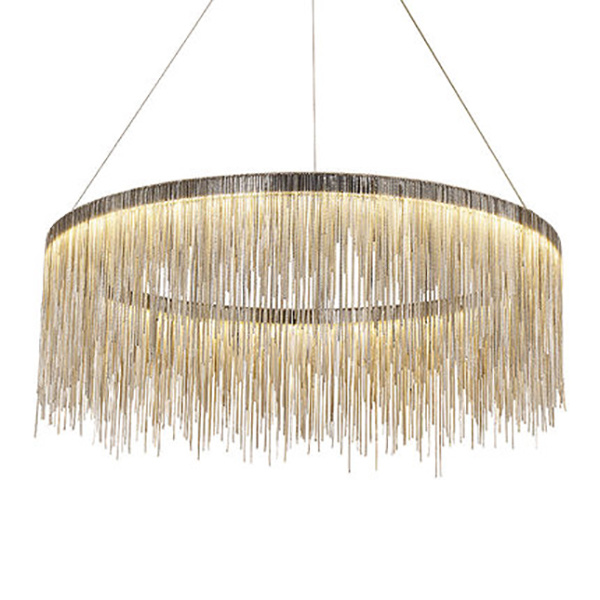Hot Item Modern Italy Tel Aluminum Chain Chandelier Lighting