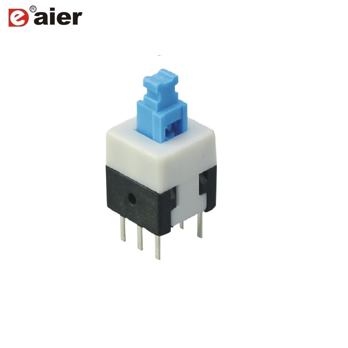 China On Latching Pcb Plastic 6 Pin Push Button Switch Pushbuttons Momentary And Off In Blue White