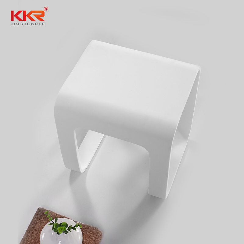 China Small Cute Sanitary Ware Artificial Stone Shower Stool For Bathroom