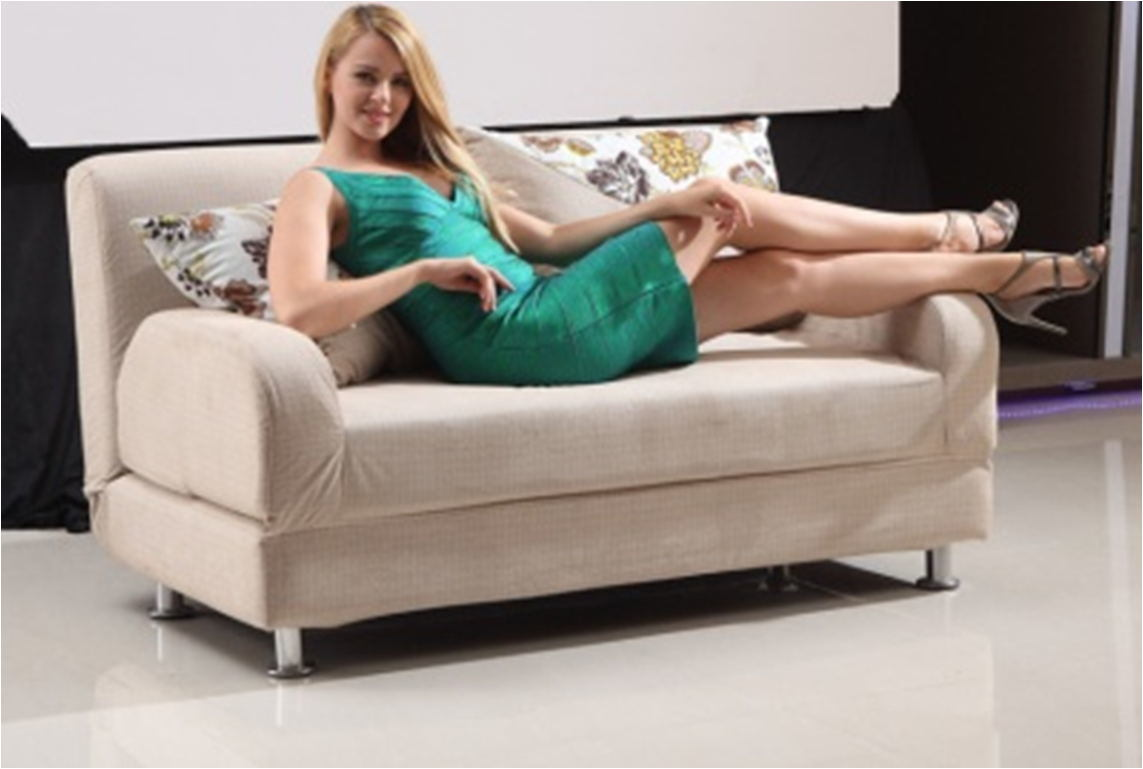 - China Best Quality Reception Couch Home With Sleeper Sofa Cream